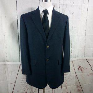 Oscar de la Renta Metal Button Navy Suit Blazer Sp